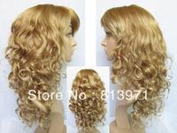 New Arrival Women's Stylish Long Wavy Blonde Wig Synthetic Wig Synthetic Hair Wigs Cosplay Wigs for Women K26TK15