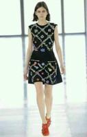 Free Shipping 2013 Autumn Winter Runway Classic Sleeveless Embroidery Dress Women