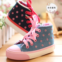 Hot sale 2014 new Child canvas shoes female child princess shoes fashion shoes kids children sneakers for girls size 23-33