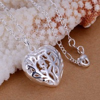 Free Shipping!Wholesale 925 Silver Necklaces & Pendants,925 Silver Fashion Jewelry,Stereo Heart Pendant CP010