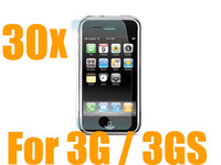30 X New CLEAR SCREEN PROTECTOR COVER For iPhone 3G 3GS,Wholesale Cheap price