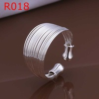 Free Shipping!Wholesale 925 Silver Ring,925 Silver Fashion Jewelry,Multi-line Ring SMTR018