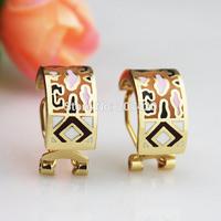 Newest 1cm Width Rose Gold Plated Enamel Jewelry Earring Pendant,1pcs