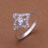 Free Shipping!Wholesale 925 Silver Ring,925 Silver Fashion Jewelry,Austria Crystal Fashion Ring SMTR194