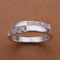 Free Shipping!Wholesale 925 Silver Ring,925 Silver Fashion Jewelry,Austria Crystal Fashion Ring SMTR216