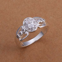 Free Shipping!Wholesale 925 Silver Ring,925 Silver Fashion Jewelry,Austria Crystal Ring SMTR172