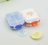 Mini portable small travel carry storage box 8 grid kit free shiping Pill Cases Splitters case colors mixed