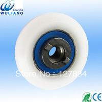 Sliding shower door grooved wheel special pulley wheel