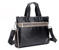 2014 New Desgin Genuine Leather Men Briefcase Business Handbag Shoulder Laptop Bag Top quality