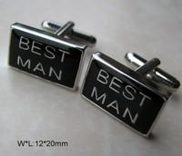 HOT SALE:Shirt cuff Cufflinks metal BEST MAN cuff links for men's gift