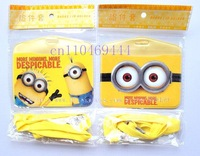 Wholesale12pcs Cartoon Despicable Me work permit testificate set clip halter-neck card case lanyard card holder   Free Shipping
