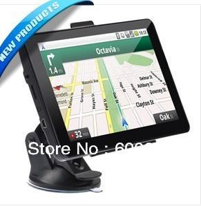 7-inch Resistive Screen Windows CE 6.0 Car GPS Navigator with Media Player/AV-In/Bluetooth/4GB TF Card (Black)