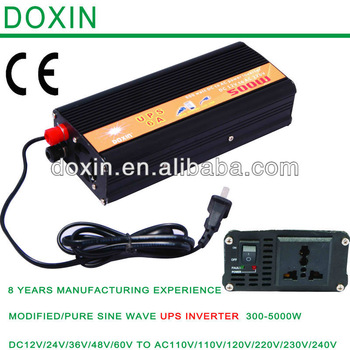 UPS Modified Sine Wave UPS Power Inverter with Charger  500W DC12V to AC220V