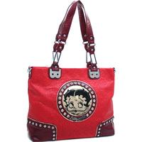 New Women Handbag 2013 Betty Boop Fashion Women's  Rhinestone Studded Tote with Touch of Gold & Stitch Design