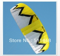 12m2 Nylon all-terrain traction kite blue & yellow color,snow kite free shipping