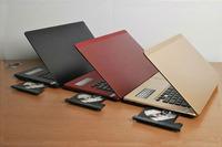 14 inch laptop computer with DVD-RW intel atom dual core D2500/N2600 1.86 GHZ window 7 laptop Notebook wifi webcam HDMI