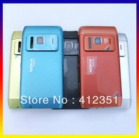 Orange/Black/Blue/Green/Silvery New Original complete full housing cover case + buttons For Nokia N8, Free Shipping