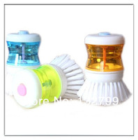 Kitchen Pot Pan Cleaning Scrubber Brush Liquid Soap Dispensing Brush Dish Washing Tool