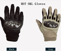 Tactical Airsoft Knuckle Carbon Gloves Outdoor Sports Game Cycling Glove Black & Tan