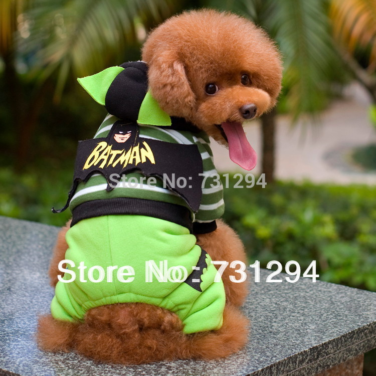 Free shipping! New Batman suit pattern dog clothes.(China (Mainland))