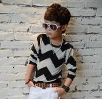 Fashion boy's t-shirts baby t shirts Popular childrens Wavy line t shirt 1pcs kids Baby T-shirt Hot Sale