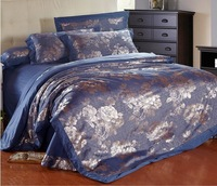 free shipping DHL 4pcs Noble king Silk bedding set/silk duvet cover 201488