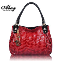 New 2014  Fashion Crocodile Shoulder Bag Women's Genuine Leather Designer Handbag High Quality69