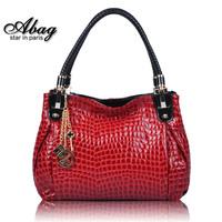 New 2014  Fashion Crocodile Shoulder Bag Women's Genuine Leather Designer Handbag High Quality69