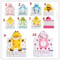 Retail-14 colors Hooded Animal modeling Baby Bathrobe/Cartoon Baby Towel/Character kids bath robe/infant bath towel