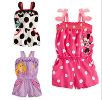 Hot sale! New style baby girl's Toddlers Minnie dot Camisole Pants ,girl summer clothing , 5pcs/lot