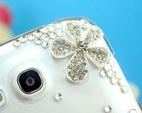 Transparent five petal flower diamond bling case for THL W8 cver