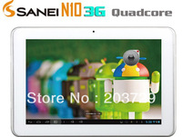 "Sanei N10 Tablets Quad Core with 3G built-in Qualcomm quad core 10"" IPS  multi touch WCDMA Phone Call Bluetooth 3.0 GPS 2pcs/lot"
