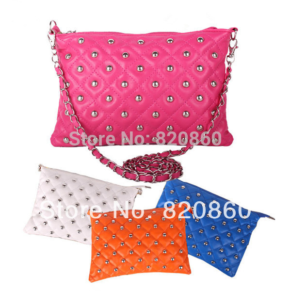 2013 Fashion women bag rivet chain vintage envelope messenger bag women's day clutch handbag(China (Mainland))