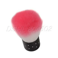 Professional Pink White Nail Brush For Acrylic & UV Gel Nail Art Dust Cleaner