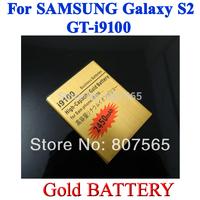 20 pcs High Capacity 2450mah Gold Battery For Samsung Galaxy S2 SII GT i9100 GT-i9100 Batterie Bateria Batterij Accumulator AKKU