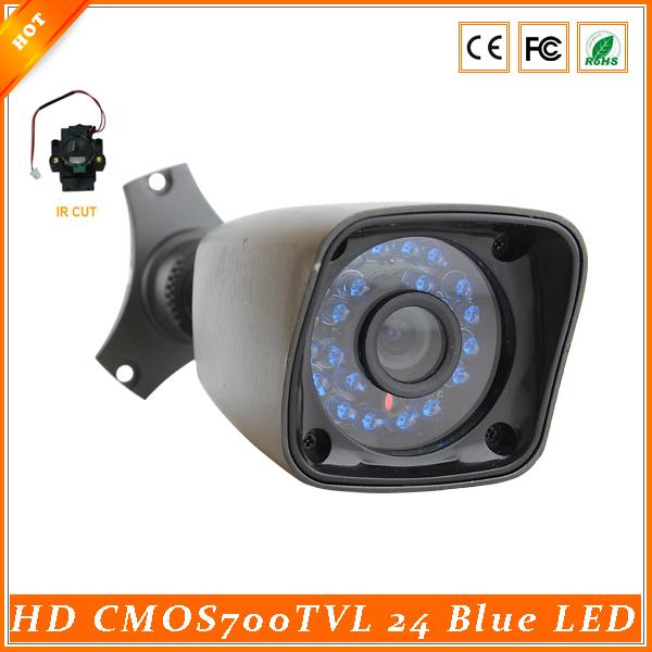 New Arrival 1/3'' CMOS 700TVL 24 IR LED 20M Night Vision Weatherproof HD Security Camera With IR-Cut Filter(China (Mainland))