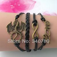 dragon infinity love charm bracelets in bronze 2014 summer new design jewelry items spain bracelet bracelets bangles brand