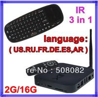 IR 6 languages 3 in 1 Rii i10 air mouse + Minix NEO X7 RK3188 Android 4.2 Quad Core TV Box Cortex-A9 2G/16G Bluetooth