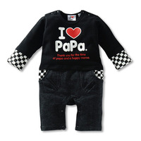 Models fall fashion cute baby Romper Long Love Romper Romper xs 003-a
