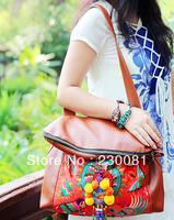 2013 2 Usage Fashion Handbag Original Design Embroidered  Ethnic Messager Bag/Shoulder Bag/Totes Handmade Retro