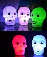 50pcs/lot Halloween Small Skull Light Decoration  Holiday Lighting  Free Shipping