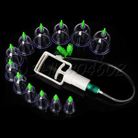 Medical Chinese Vacuum 12 Body Cupping Cups Healthy Kit Therapy Massage Portable