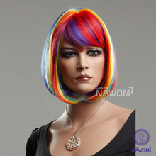 wholesale rainbow wig