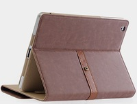 Hot selling Luxury Leather case Classic Design Table stand case For iPad mini Free Shipping