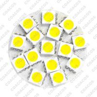 5pcs 15x 5050SMD G4 LED Pure / Warm White Back Pin LED Cabinet Light 12V 24V AC DC