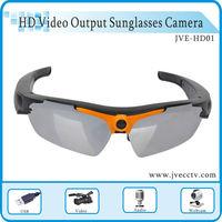 Sport Sunglasses Video Camera DVR Hidden Recorder glasses DV Mobile Eyewear Webcam Card reader & AC Charger 1280*720