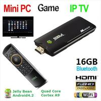 xbmc!Quad core Android 4.2 Rockchip RK3188 2G DDR3 16G ROM Bluetooth HDMI[MK802IV/16G+MK705]Give One USB HUB&LAN combo adapter