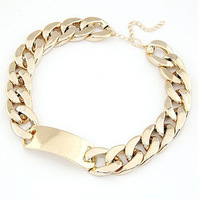 Europe exaggerated thick metal chain new ultra-compact short choker necklace for women SM688