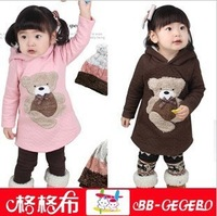 Foreign trade children's clothing in the fall of the new air cotton teddy bear hooded TongWei clothing children's coat