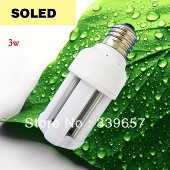 Free Shipping 5 Pieces/lot 3W Led Corn Light Bulb Epistar SMD 5050 Leds High Quality Aluminum Radiator AC85-265V  E27 E26 B22 CE